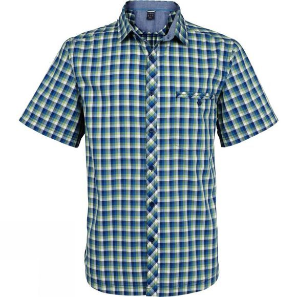 Rab Mens Drifter Short Sleeve Shirt Perry/Blue Print