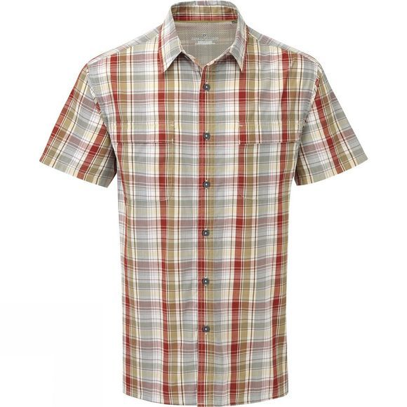 Royal Robbins Mens Playa Plaid Short Sleeve Shirt Morocco