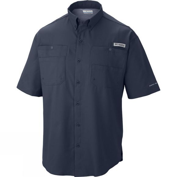 Columbia Mens Tamiami II Short Sleeve Shirt Collegiate Navy