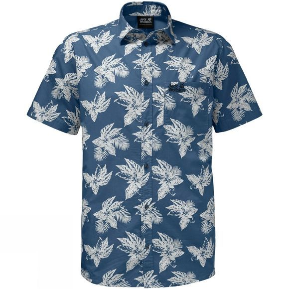 Jack Wolfskin Mens Hot Chili Tropical Shirt Ocean Wave All Over