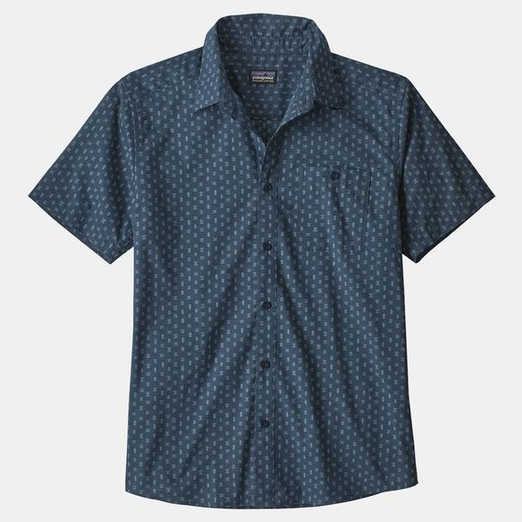 Patagonia Mens Go To Shirt Space Micro: Stone Blue
