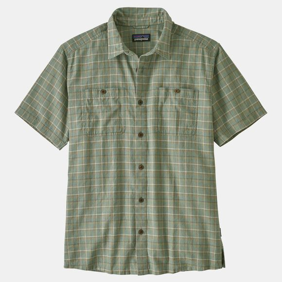 Patagonia Mens Back Step Shirt Harvester: Ellwood Green