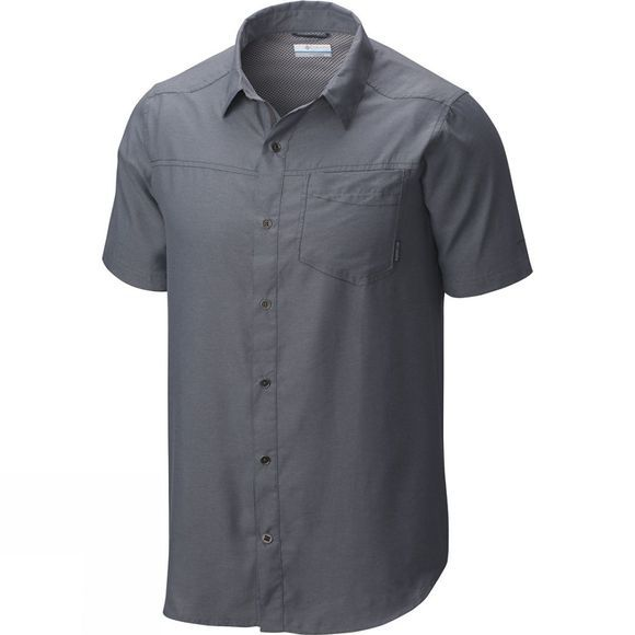 Columbia Mens Pilsner Peak II Short Sleeve Shirt Grey Ash