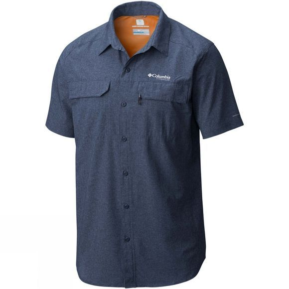 Columbia Mens Irico Short Sleeve Shirt Carbon Heather