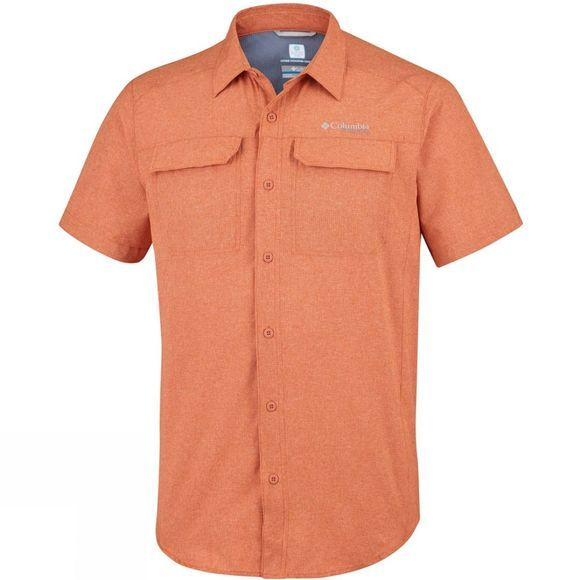 Columbia Mens Irico Short Sleeve Shirt Desert Sun Heather