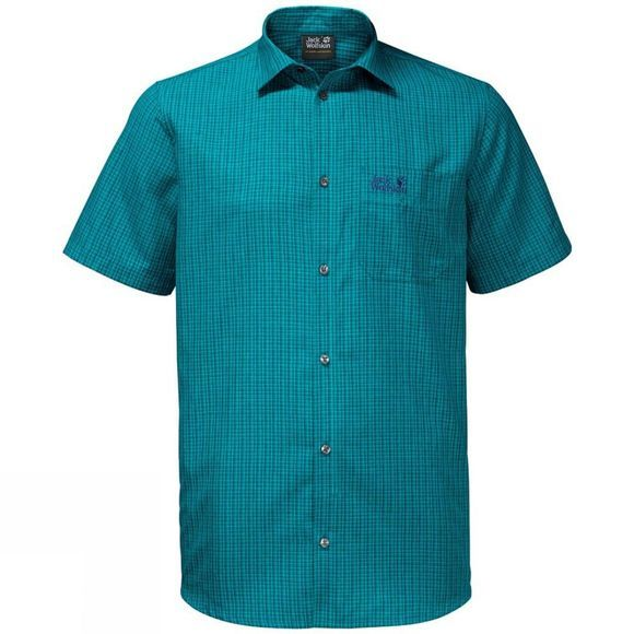 Jack Wolfskin Mens El Dorado Shirt Glacier Blue Checks