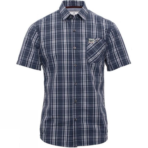 Brakeburn Mens Short Sleeve Check Shirt Navy