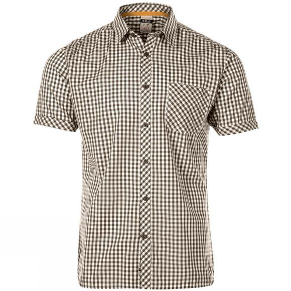 Mens Checker Short Sleeve Shirt