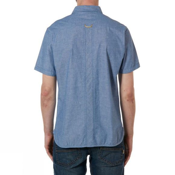 Rab Mens Maker Short Sleeve Shirt Blue Chambray