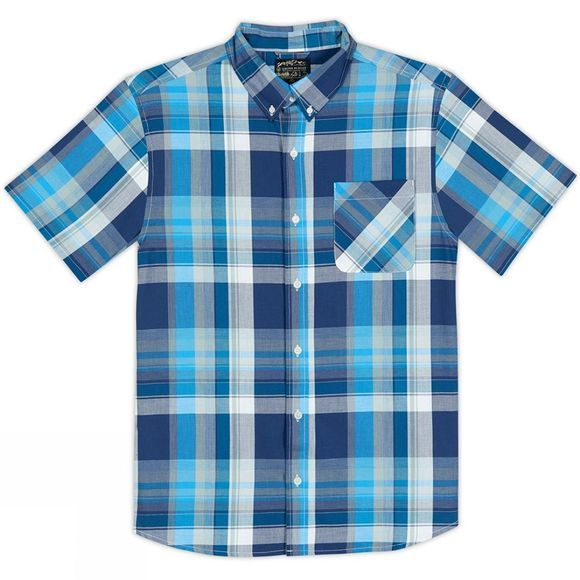 United By Blue Mens Kintyre Plaid Shirt Blue