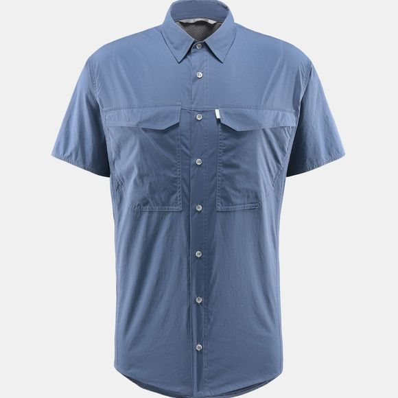 Haglofs Mens Salo Short Sleeve Shirt Tarn Blue