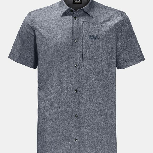 Jack Wolfskin Mens Barrel Shirt Pebble Grey