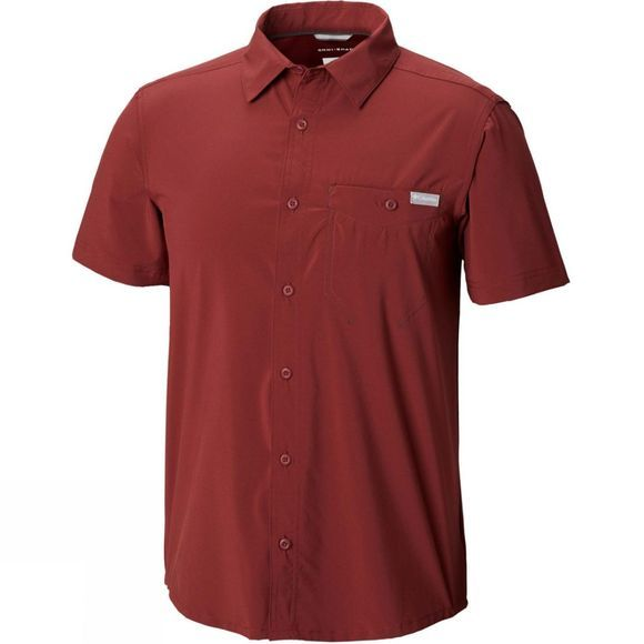 Columbia Mens Triple Canyon Solid Short Sleeve Shirt Tapestry