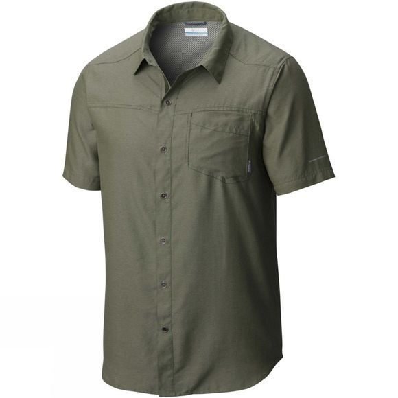Columbia Mens Pilsner Peak II Short Sleeve Shirt Mosstone