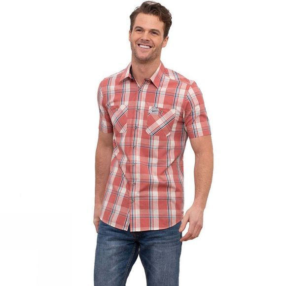 Brakeburn Men's S/S Check Shirt RED