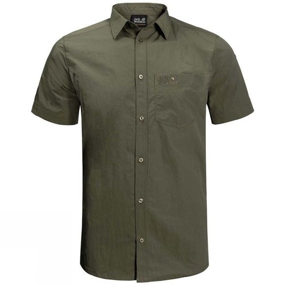 Jack Wolfskin Mens Lakeside Shirt Woodland Green
