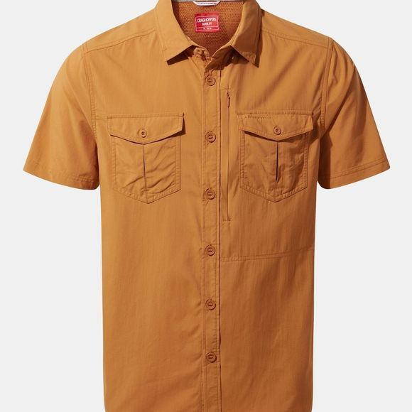Craghoppers Mens NosiLife Adventure Short Sleeve Shirt Cumin