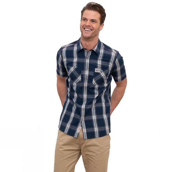Brakeburn Men's S/S Check Shirt  Navy