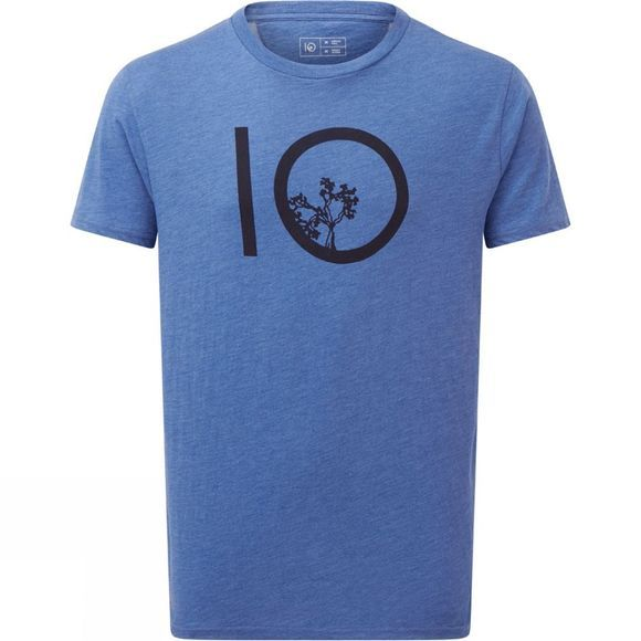Tentree Ten Short Sleeve Tee Blue Jay Blue Heather