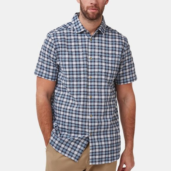 Craghoppers Mens Pele Short Sleeve Shirt Blue Navy Check