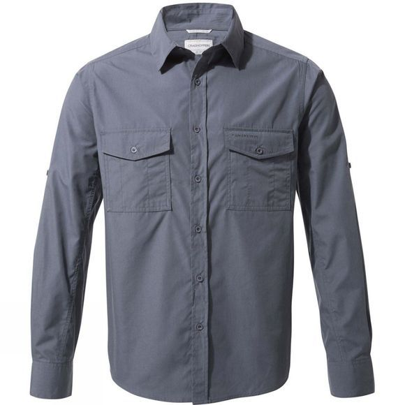 Craghoppers Mens Kiwi Long Sleeve Shirt Ombre Blue