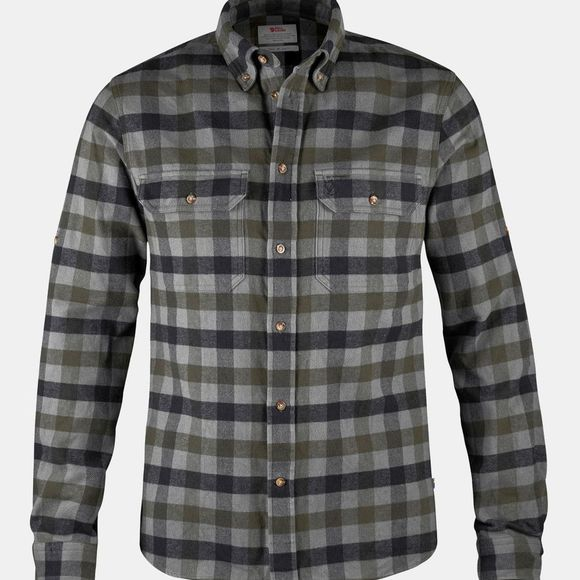 Fjallraven Mens Skog Shirt Black
