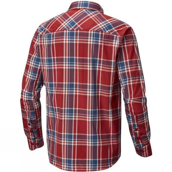 Columbia Mens Silver Ridge Plaid Long Sleeve Shirt Red Element Plaid