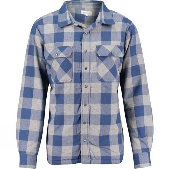 Ayacucho Mens Insulated Flannel Shirt Navy/Grey Candian