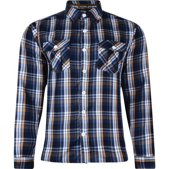 Dare 2 b Mens Exult Shirt Brown Rubber Hawthorn Check