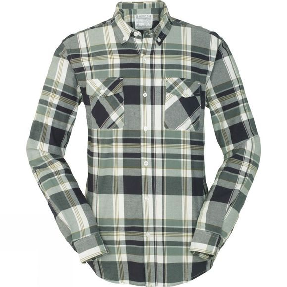 United By Blue Mens South Plaid Shirt Green/Olive