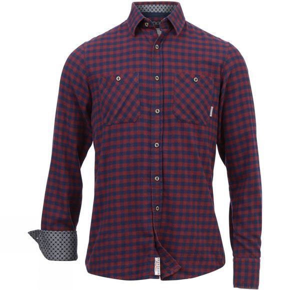 Mens Gingham Flannel Shirt