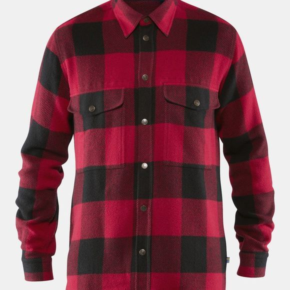 Fjallraven Mens Canada Shirt Red