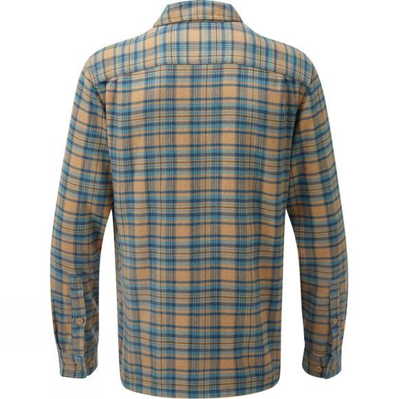 Patagonia Mens Long-Sleeved Fjord Flannel Shirt Salty Flats: Mojave Khaki