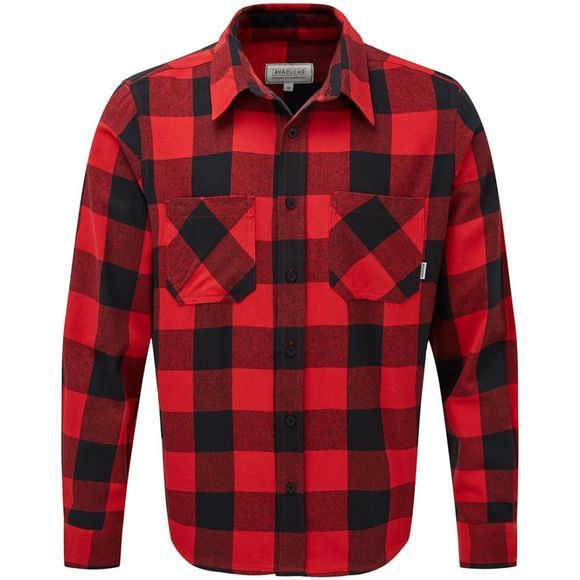 Ayacucho Mens Flannel Shirt Red/Black Canadian