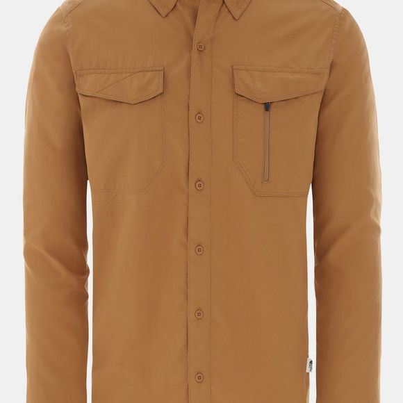 The North Face Mens Sequoia Long Sleeve Shirt Cedar Brown