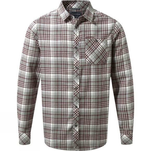 Craghoppers Mens Bjorn Long Sleeve Check Shirt Quarry Grey