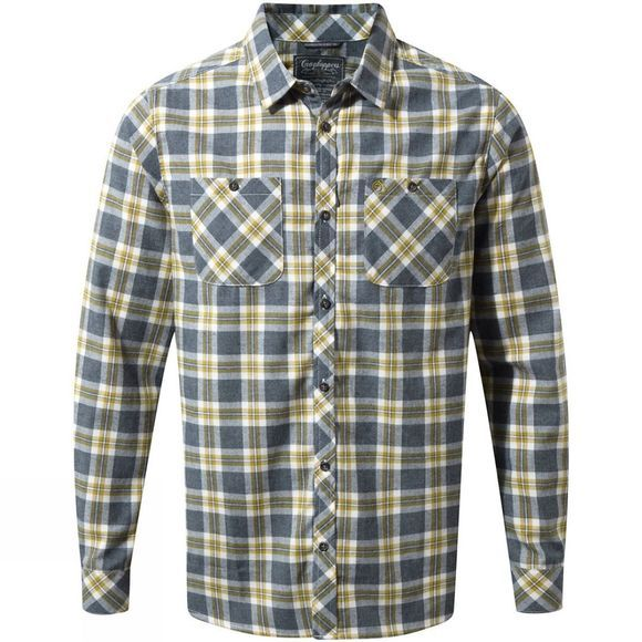Craghoppers Mens Andreas Long Sleeve Check Shirt Ombre Blue Check