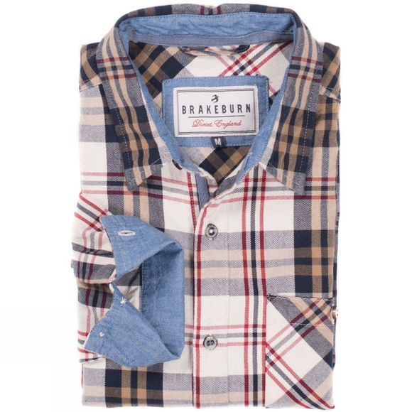 Mens Check Long Sleeve Flannel Shirt
