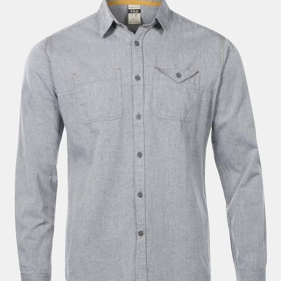 Rab Mens Maker Long Sleeve Shirt Grey Chambray