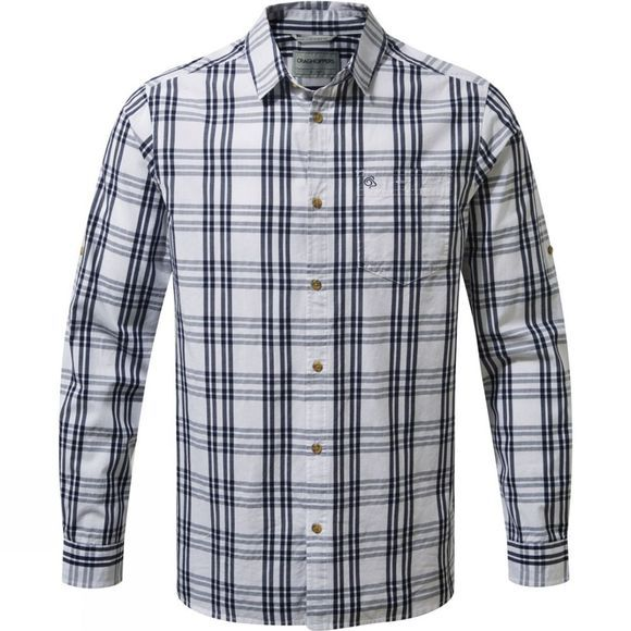 Craghoppers Blayney Long Sleeve Check Shirt Blue Navy