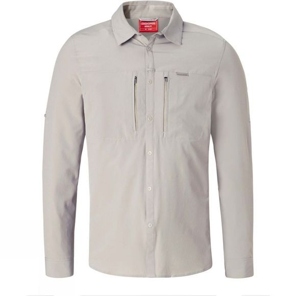 Craghoppers Mens NosiLife Pro II Long Sleeve Shirt Parchment