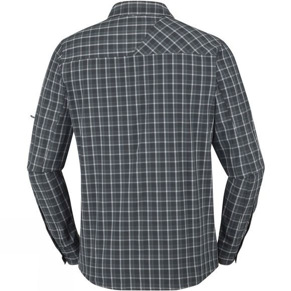 Columbia Mens Triple Canyon Long Sleeve Shirt Black/Graphite Plaid