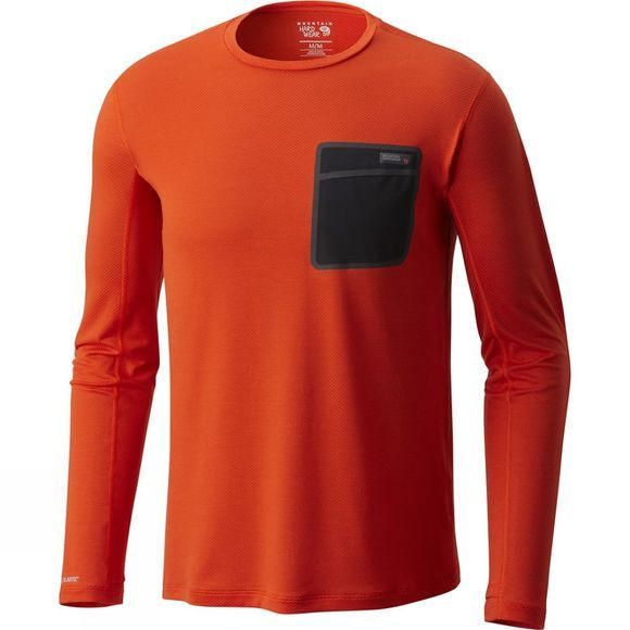 Mountain Hardwear Mens Metonic Long Sleeve Shirt State Orange