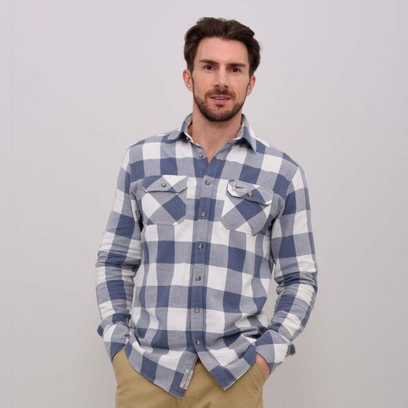Mens Twill Block Check Shirt