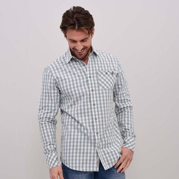 Brakeburn Mens Gingham Shirt Grey