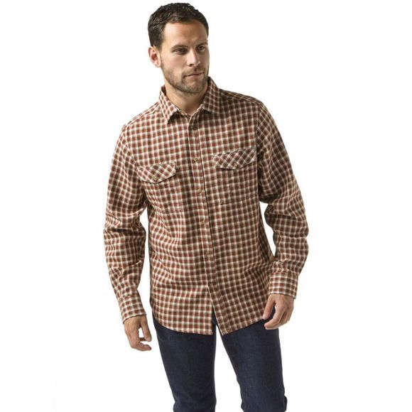 Craghoppers Mens Kiwi Long Sleeve Check Shirt Burnt Umber Check