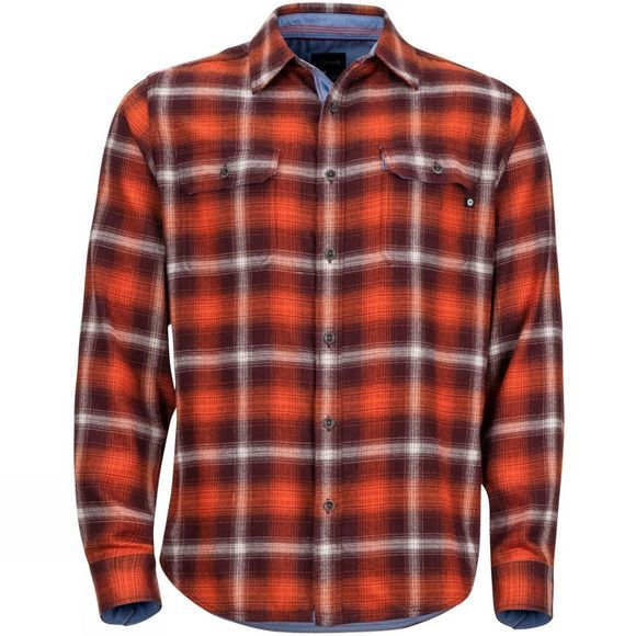Mens Jasper Midweight Flannel Long Sleeve Shirt