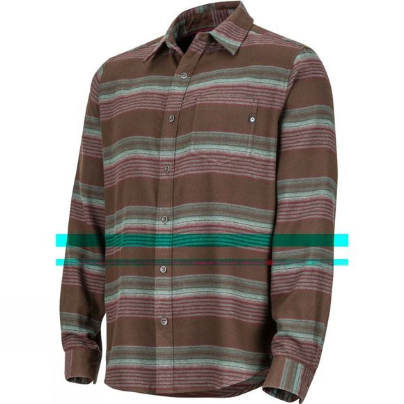 Marmot Mens Enfield Midweight Flannel Long Sleeve Shirt Dark Brown