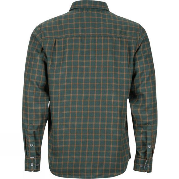 Marmot Mens Fairfax Midweight Flannel Long Sleeve Shirt Dark Spruce