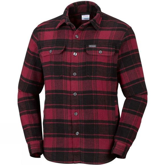 Columbia Mens Windward IV Shirt Jacket Red Element Plaid